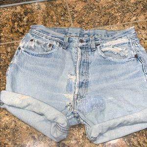RE vintage Levi Jean Shorts